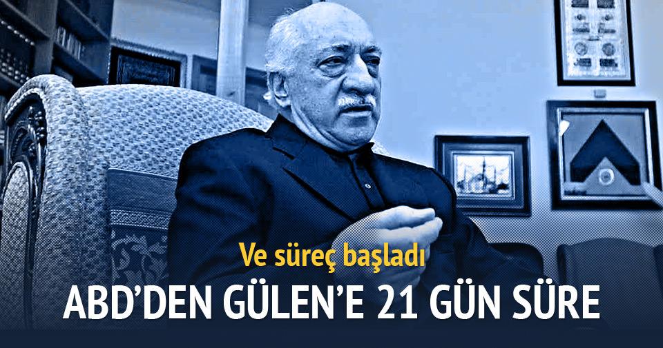 ABD'den Fethullah Gülen'e 21 gün süre