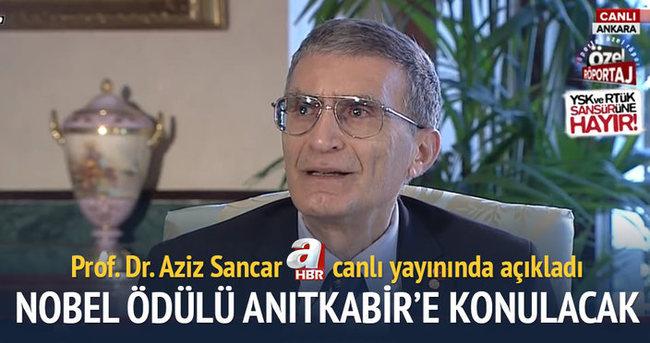 Aziz Sancar Nobel sertifikası ve madalyasını Anıtkabir'e verecek