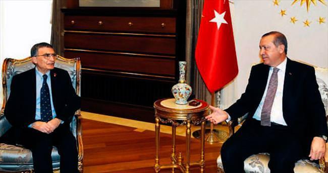 Cumhurbaşkanı Erdoğan Aziz Sancar'ı kabul etti