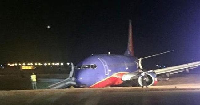 ABD'de uçak pistten çıktı: 4 yaralı
