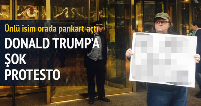 Donald Trump'a şok protesto