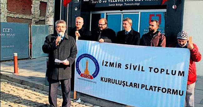 İzmir'de RTÜK'e sansür tepkisi