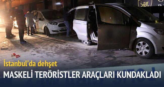 İstanbul'da altı araç kundaklandı