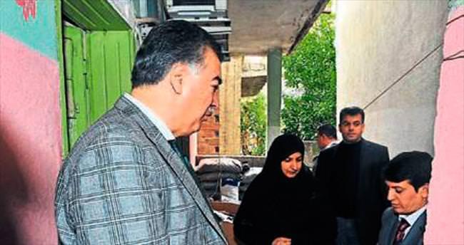 Vali Kerem Al yoksul vatandaşların konuğu