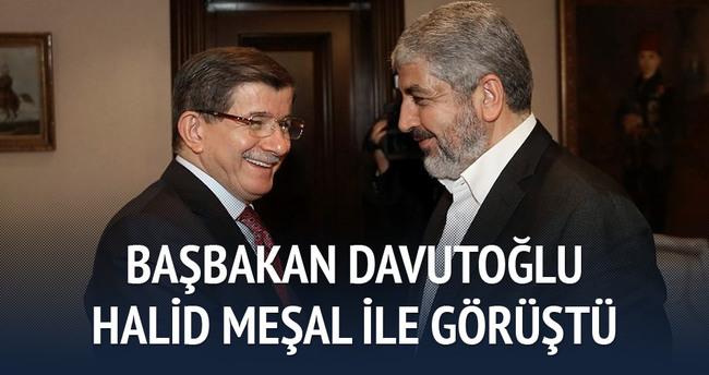 Başbakan Davutoğlu, Halid Meşal ile görüştü