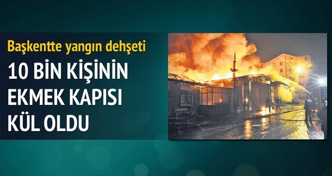 Başkentte yangın dehşeti