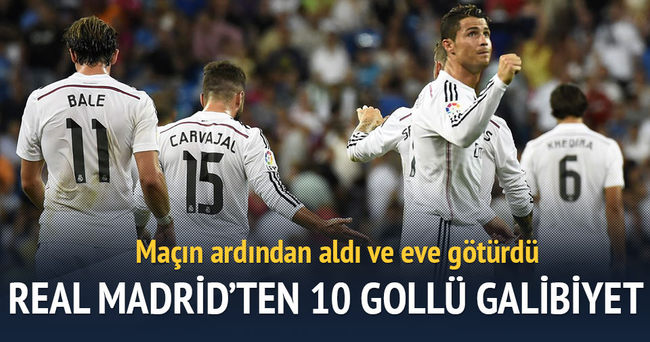 Real Madrid, Vallecano'ya 10 gol attı!
