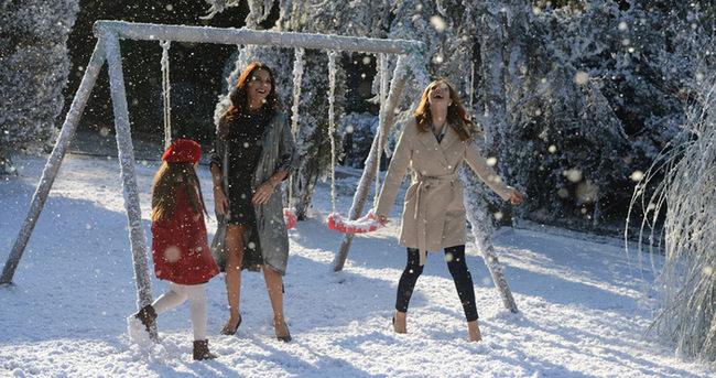 """Yılın ilk karı """"Eve Dönüş"""" setinde"""
