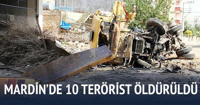 Mardin'de 10 terörist öldürüldü
