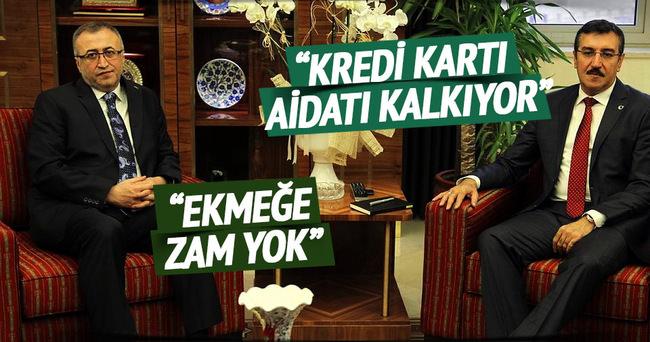 Bakan Tüfenkci·, Türki·ye Fırıncılar Federasyonu Başkanı Balcı'yı kabul etti·