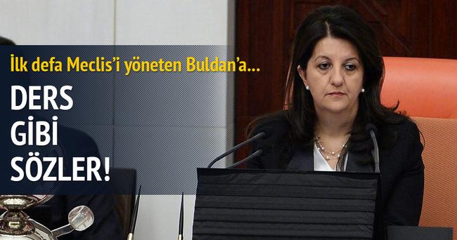 Meclisi yöneten Buldan'a ders gibi sözler