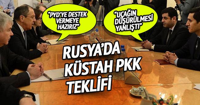 Demirtaş-Lavrov görüşmesinde PYD'ye destek teklifi