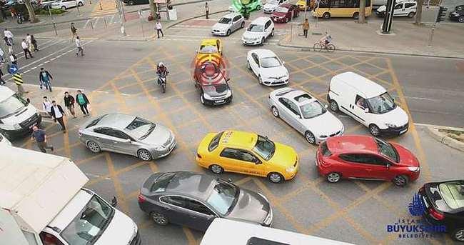 İstanbul trafiğinde yeni dönem: Taralı alan
