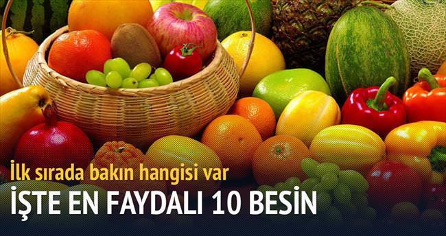 İşte en faydalı 10 gıda