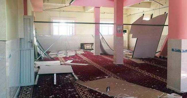 Camiyi tahrip edip PKK propagandası yaptılar