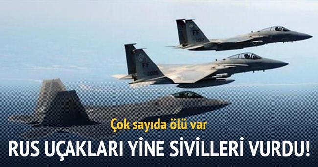Rus jetleri Suriye'de sivilleri vurdu: 10 ölü