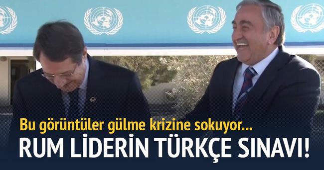 Rum liderin Türkçe sınavı