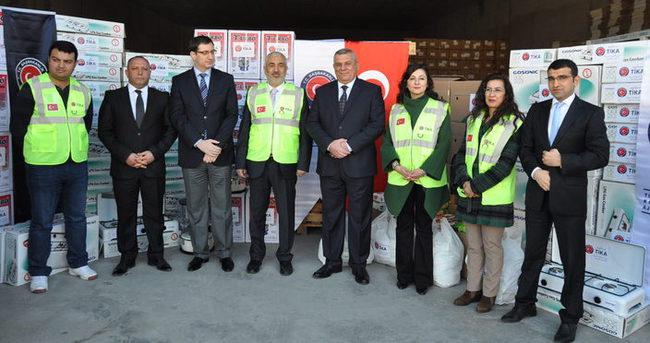 TİKA, Tuzhurmatu'ya 300 ailelik yardım gönderdi