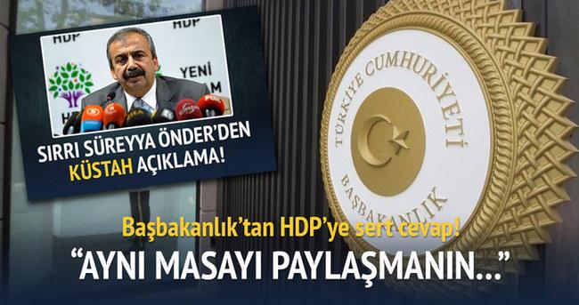 Başbakanlık'tan HDP ile görüşme konusunda açıklama geldi!