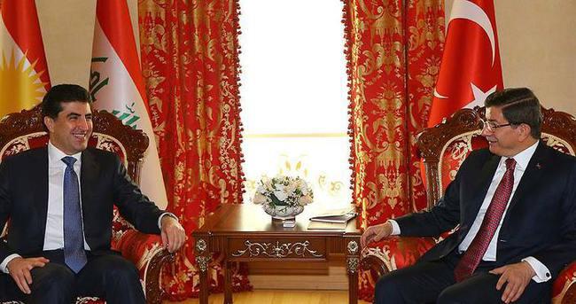 Başbakan Davutoğlu Barzani'yi kabul etti!