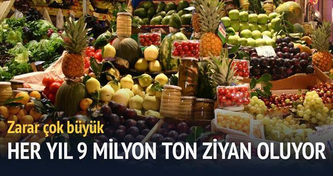 9 milyon ton yaş sebze ve meyve çöpe gidiyor