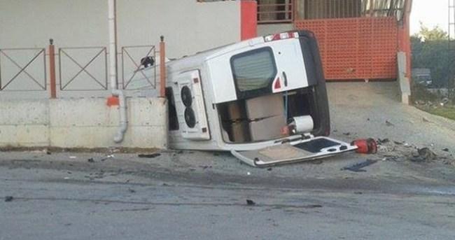 Öğrenci servisi kaza yaptı: 10 yaralı