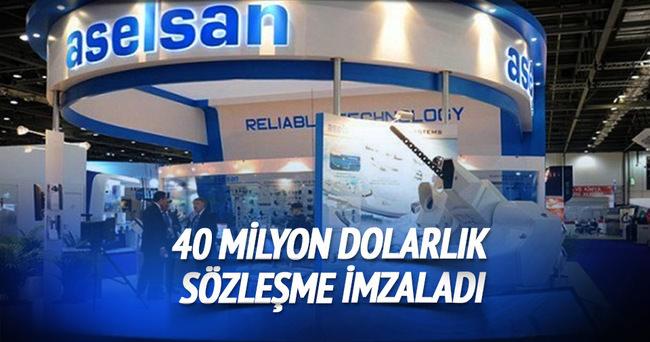Aselsan'dan 40 milyon dolarlık sözleşme