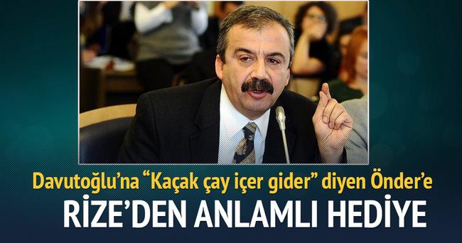 Sırrı Süreyya Önder'e Organik Rize Çayı gönderdiler