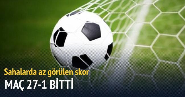 Kadınlar futbol liginde 27-1'lik skor