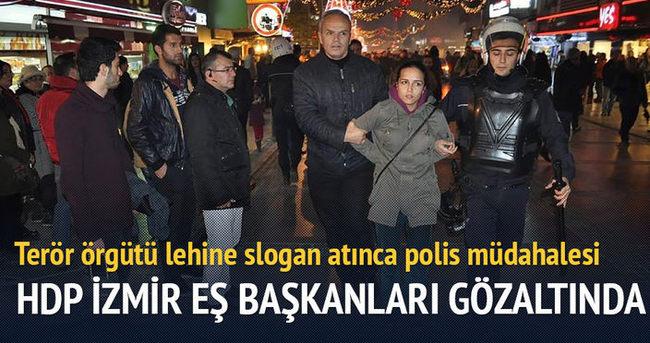 HDP İzmir eş başkanları gözaltına alındı