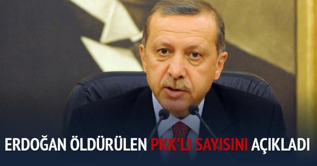 Erdoğan toplam kaç PKK'lının öldürüldüğünü açıkladı