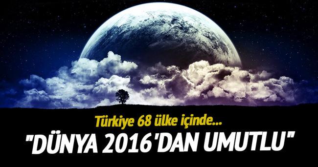 Dünya 2016'dan umutlu