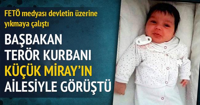 Başbakan Miray bebeğin ailesini aradı