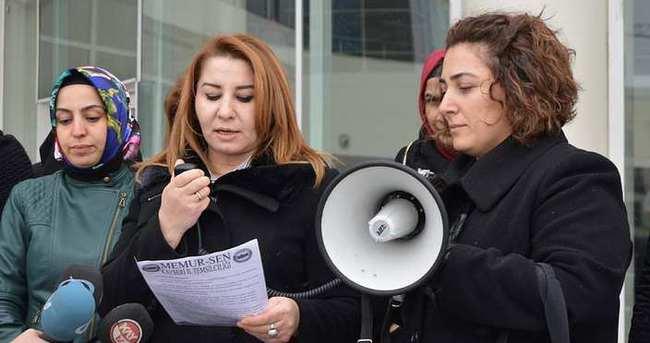 Memur kadınlardan, işkenceci üvey anneye tepki
