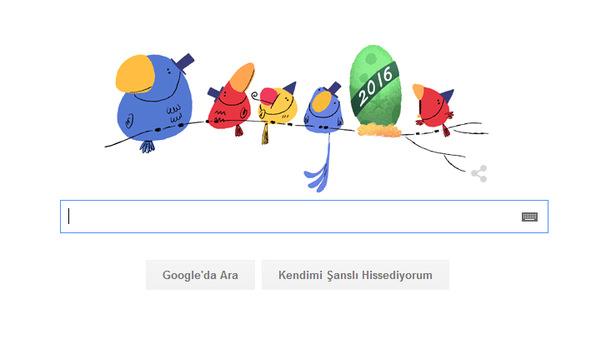 Google 2016 yılbaşına özel Doodle hazırladı