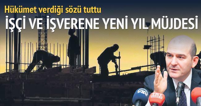 İşçi ve işverene yeni yıl müjdesi