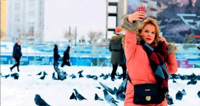 İstanbul'da duygular 'kar'ıştı