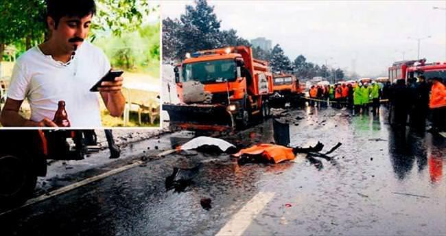Kar küreme işçileri alkollü şoför kurbanı