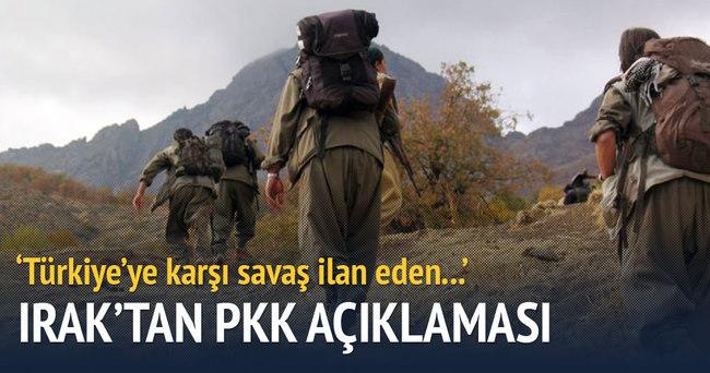 Irak'tan PKK açıklaması: Türkiye'ye karşı savaş...