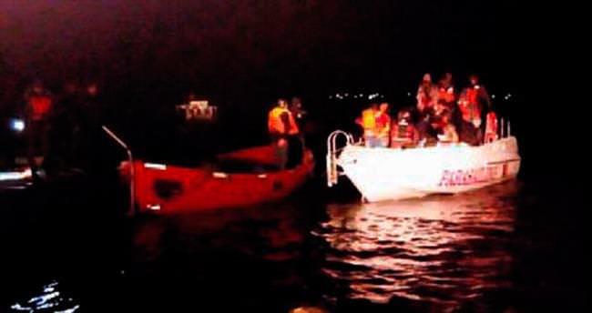 14 yaşındaki kaptanın teknesinde 34 kaçak