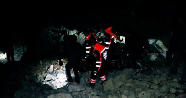 Sarp kayalıkta define faciası: 1 ölü 2 yaralı