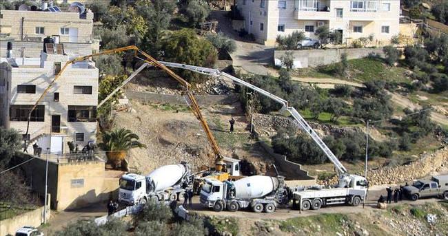 Filistinli'nin evine beton döktüler!