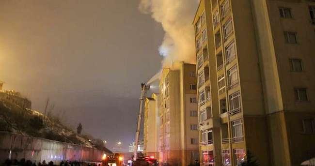 İstanbul'da 8 katlı bina alev alev yandı