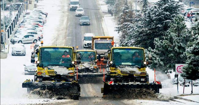 Başkentte kar alarmı