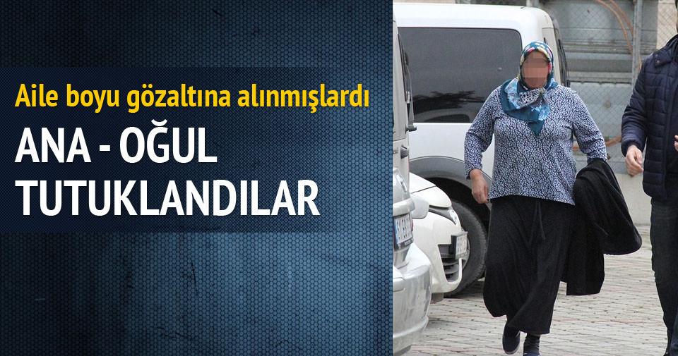 Yaşlı kadının evini soyan anne ve oğlu tutuklandı