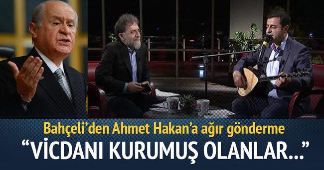 Bahçeli'den Ahmet Hakan'a ağır gönderme