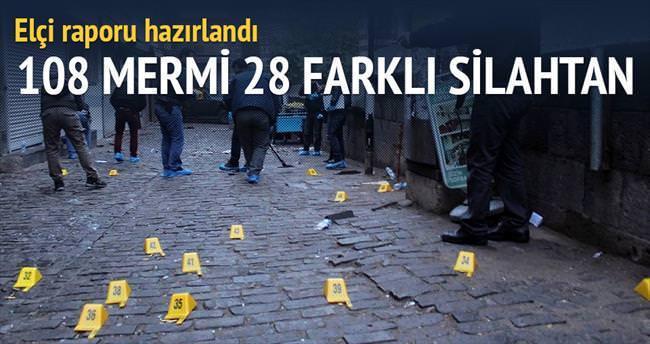 Elçi raporu: 108 mermi 28 farklı silahtan çıktı