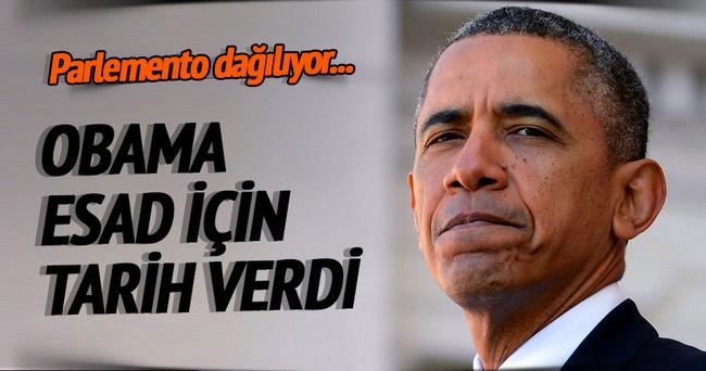 Obama, Esad için tarih verdi