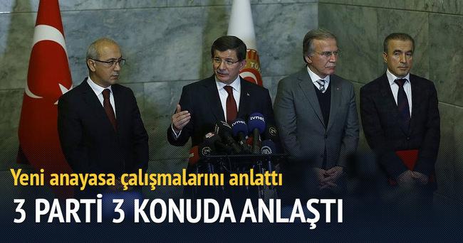 Başbakan Davutoğlu'ndan yeni anayasa açıklaması