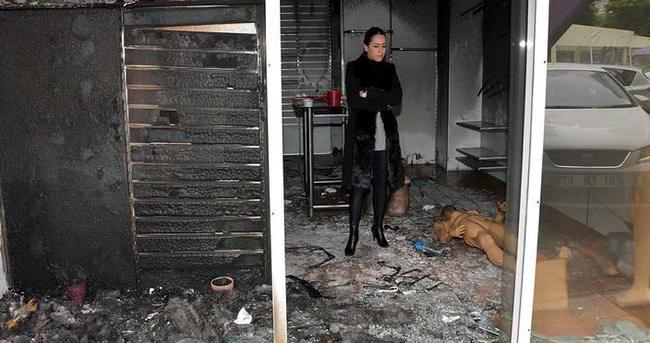 Eski nişanlısının mağazasını yaktı